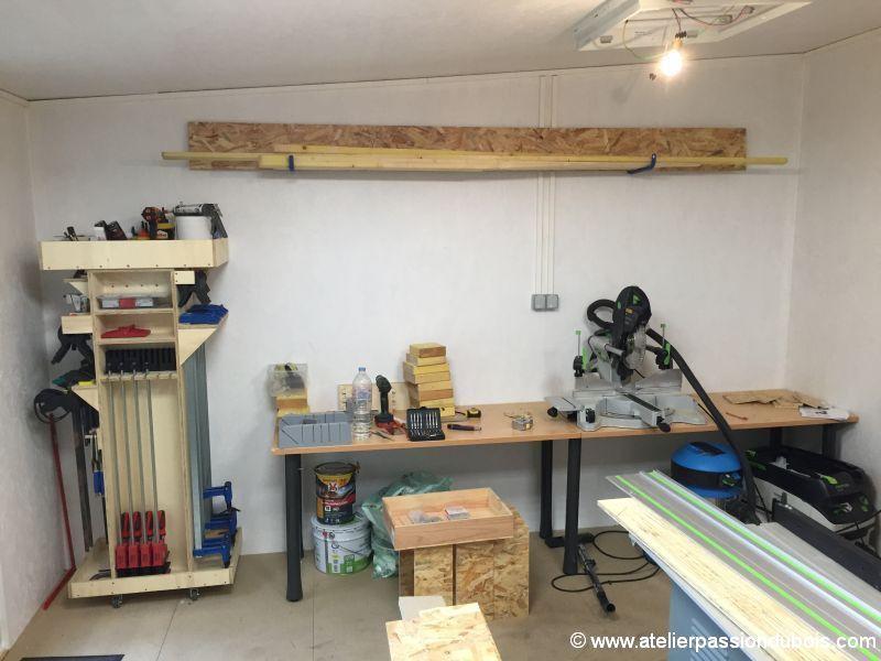 construction d 39 un atelier en ossature bois et son am nagement page 7. Black Bedroom Furniture Sets. Home Design Ideas