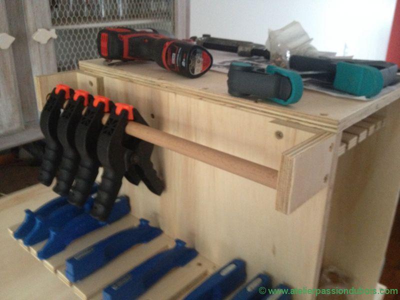 rangement serre joint