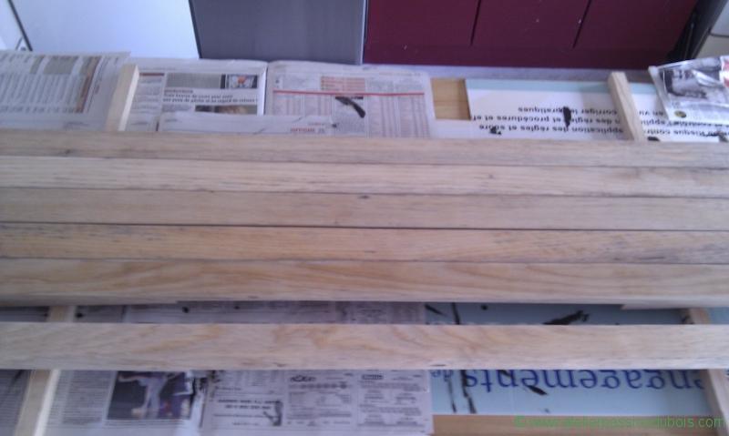 poncage des lames en bois