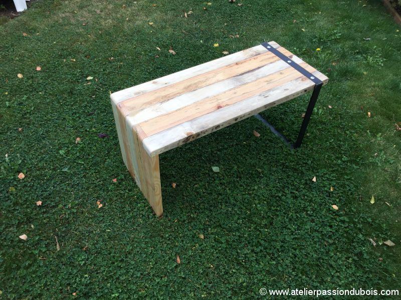 banc bois metal DIY