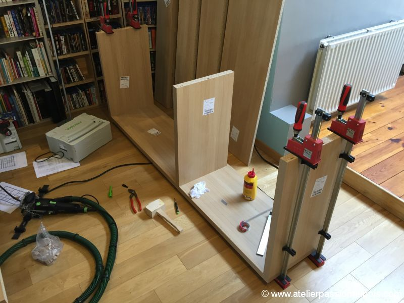 bibliotheque melamine DIY