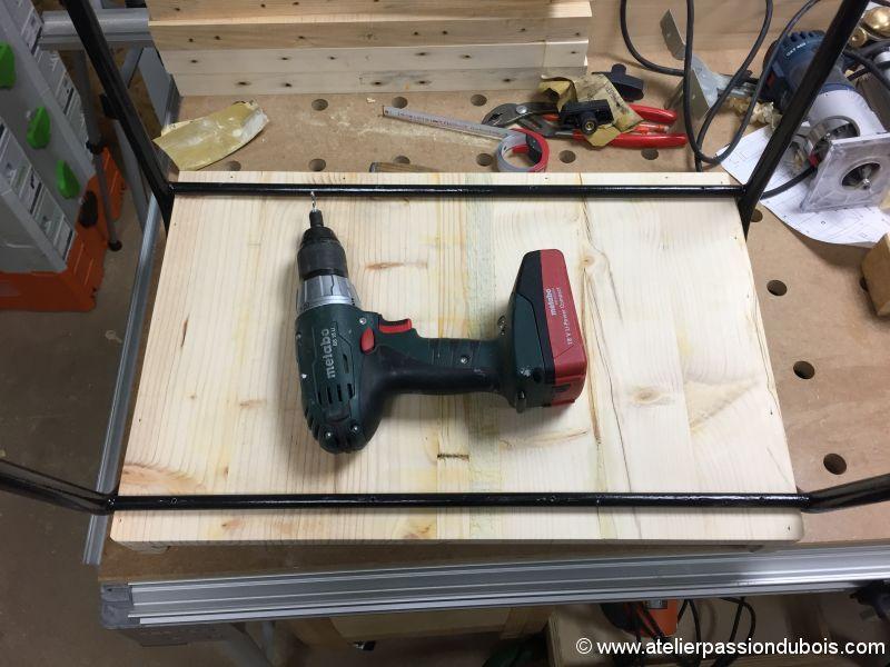petit bureau bois metal
