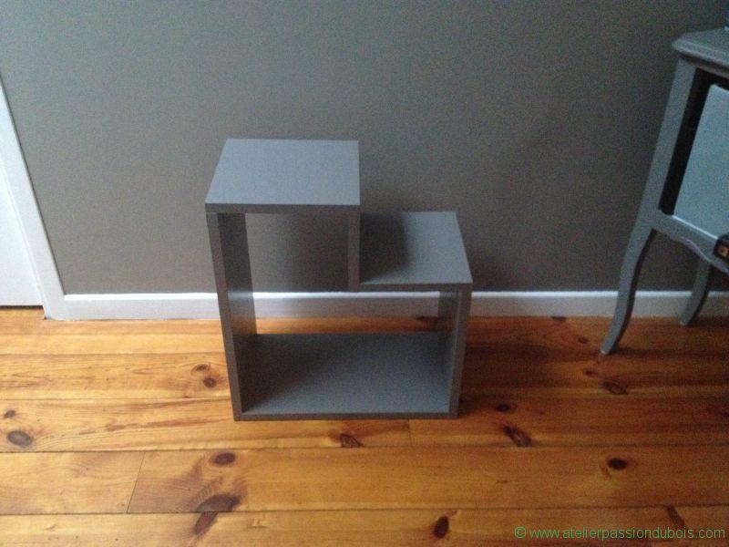 etagere cube bois atelier passion du bois. Black Bedroom Furniture Sets. Home Design Ideas