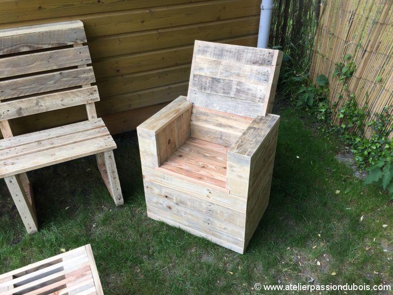 fauteuil bois palette