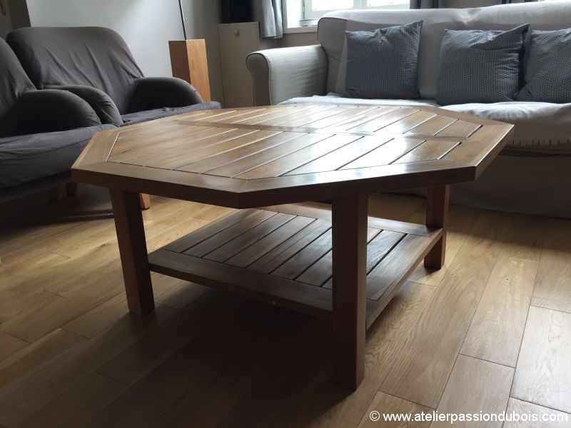 Table basse teck atelier passion du bois - Creation table basse ...