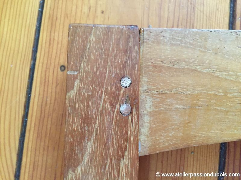 reparation chaise bois