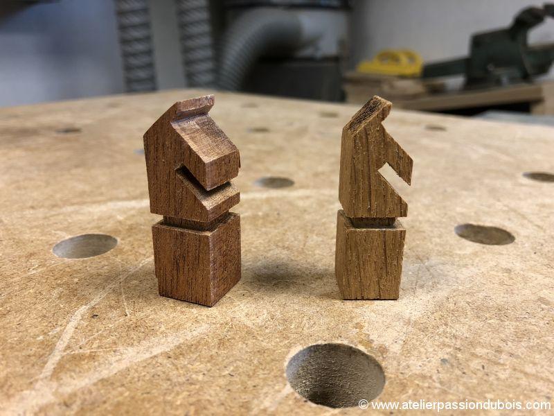 echiquier en bois