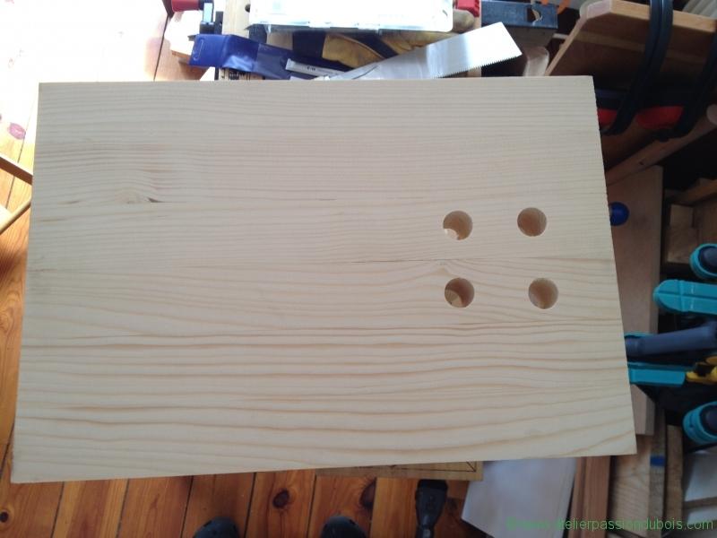 26 perçage des logements des clous en bois