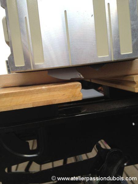 support livre cuisine bois