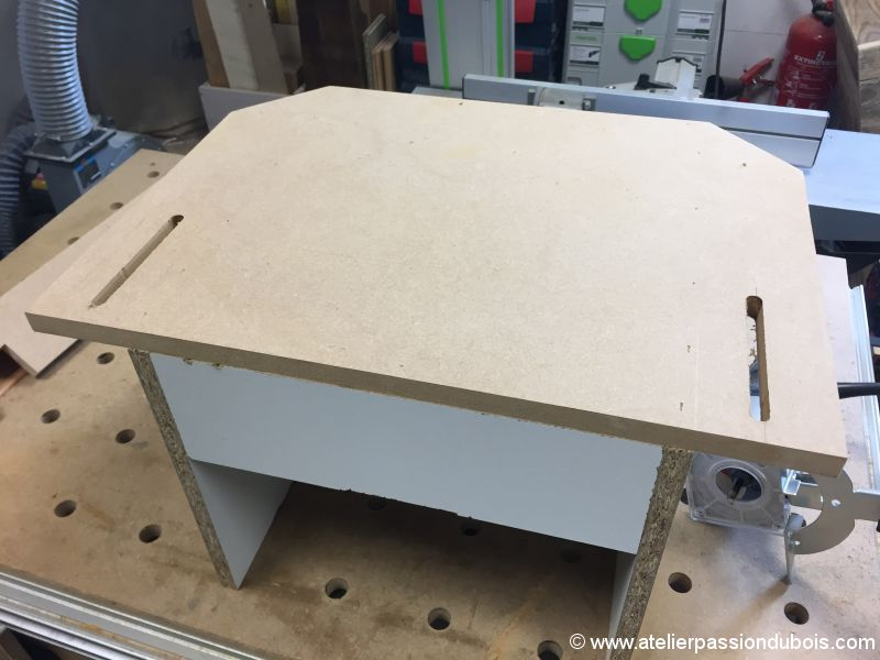table percage DIY perceuse colonne