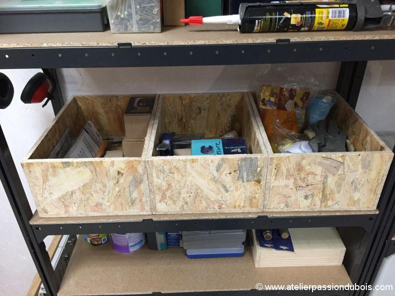 construction de boites de rangement pour l 39 atelier atelier passion du bois. Black Bedroom Furniture Sets. Home Design Ideas