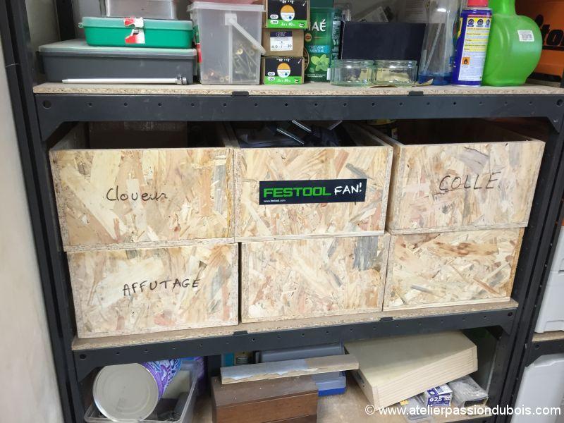 rangement boite bois