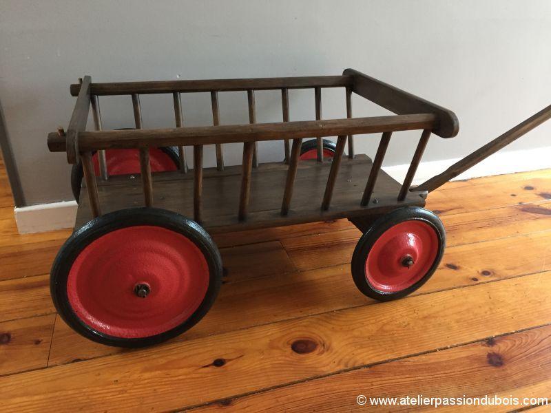 Restauration Chariot Bois Enfant