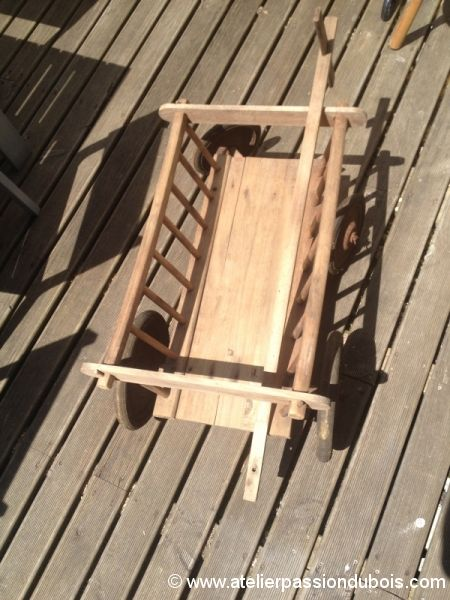 restauration chariot bois enfant atelier passion du bois. Black Bedroom Furniture Sets. Home Design Ideas