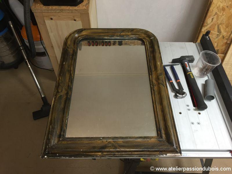 Restauration vieux miroir