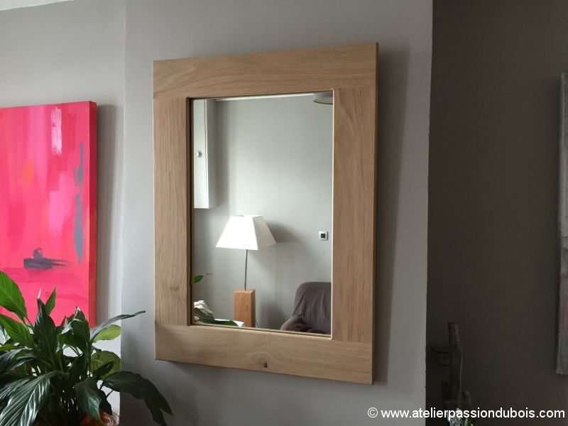 Restauration vieux miroir atelier passion du bois for Miroir de peine