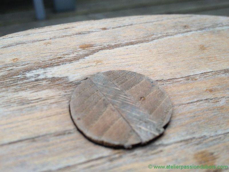 restaurer tabouret bois