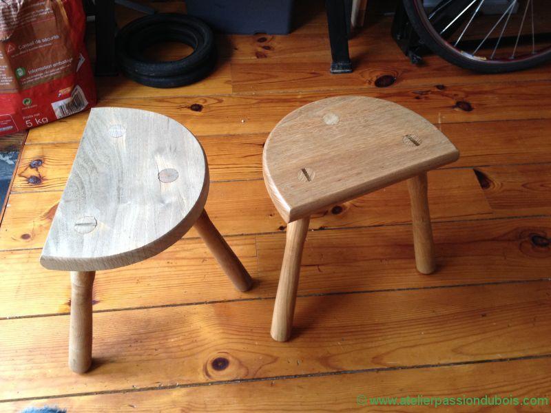 restaurer tabouret bois atelier passion du bois. Black Bedroom Furniture Sets. Home Design Ideas