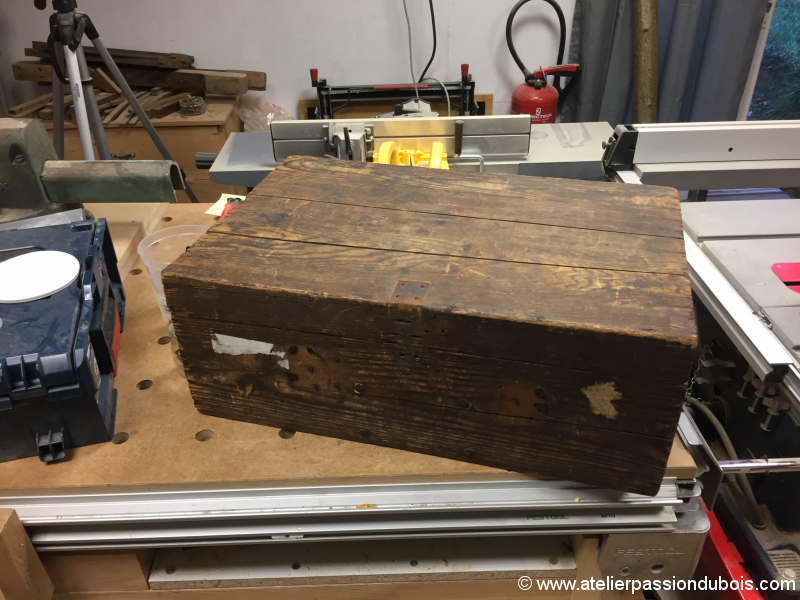 restauration caisse bois