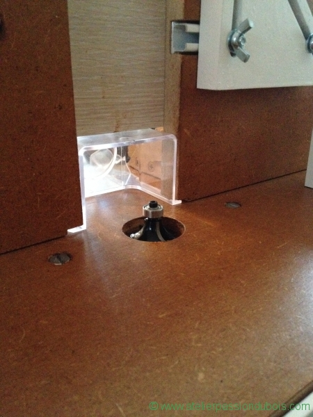 Defonceuse sous table