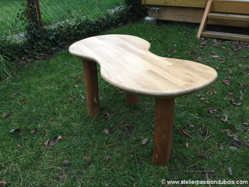 table basse noisetier