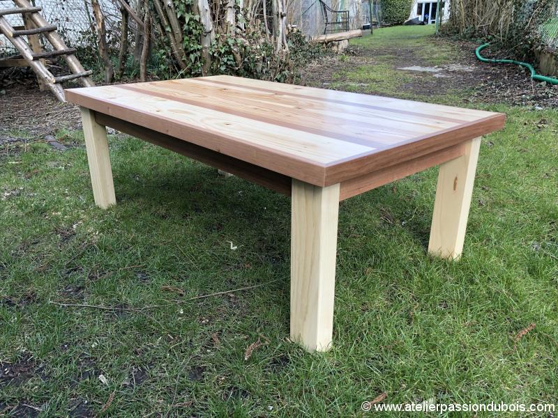 table basse bois palette exotique atelier passion du bois. Black Bedroom Furniture Sets. Home Design Ideas