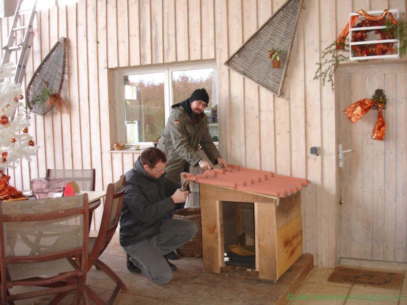 niche bois chien atelier passion du bois. Black Bedroom Furniture Sets. Home Design Ideas