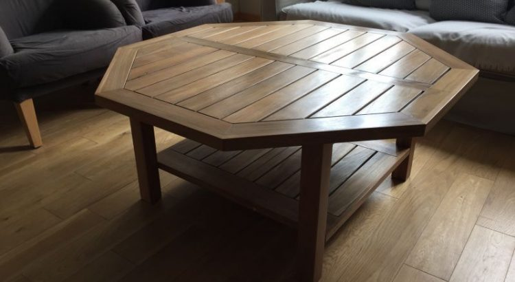 table basse teck - Atelier passion du Bois