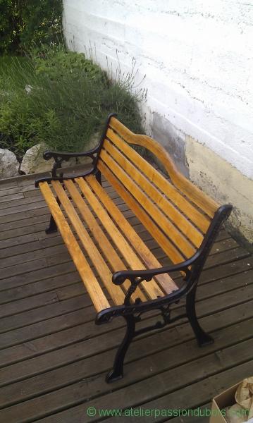 restaurer banc jardin